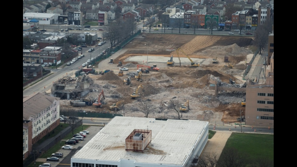 William Penn High School Demolition as of 1-7-16