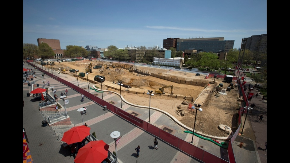 Site development of the new library as of 4/25/16