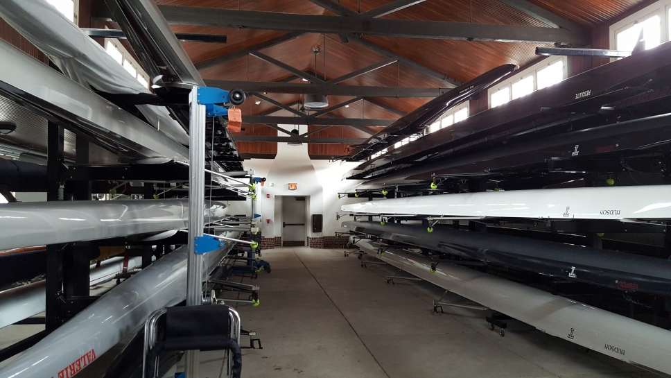 Boathouse interior