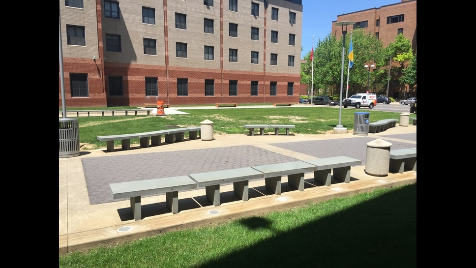 1300 residence hall landscape improvements campus operations
