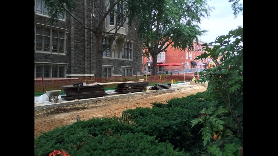 Liacouras Walk and Polett Walk Construction as of 6/21/16