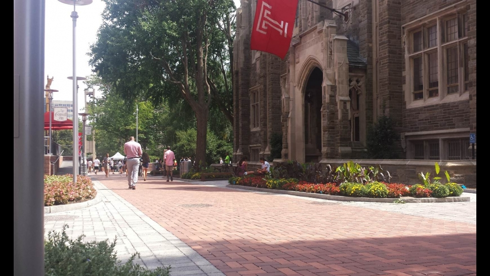 Polett Walk in front of Sullivan Hall as of fall 2016