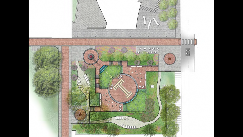 Rendering of Founder's Garden