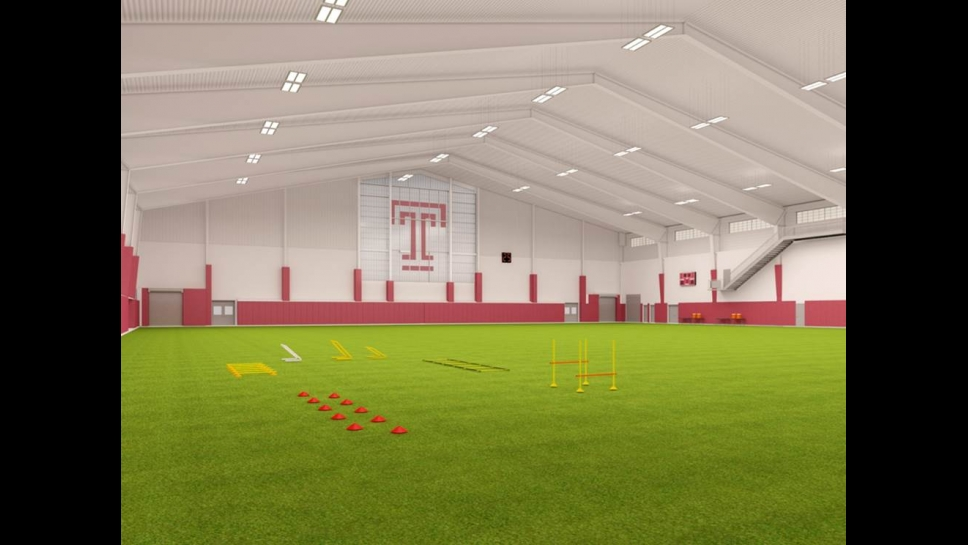 Rendering of indoor field at the Student Health and Wellness Center