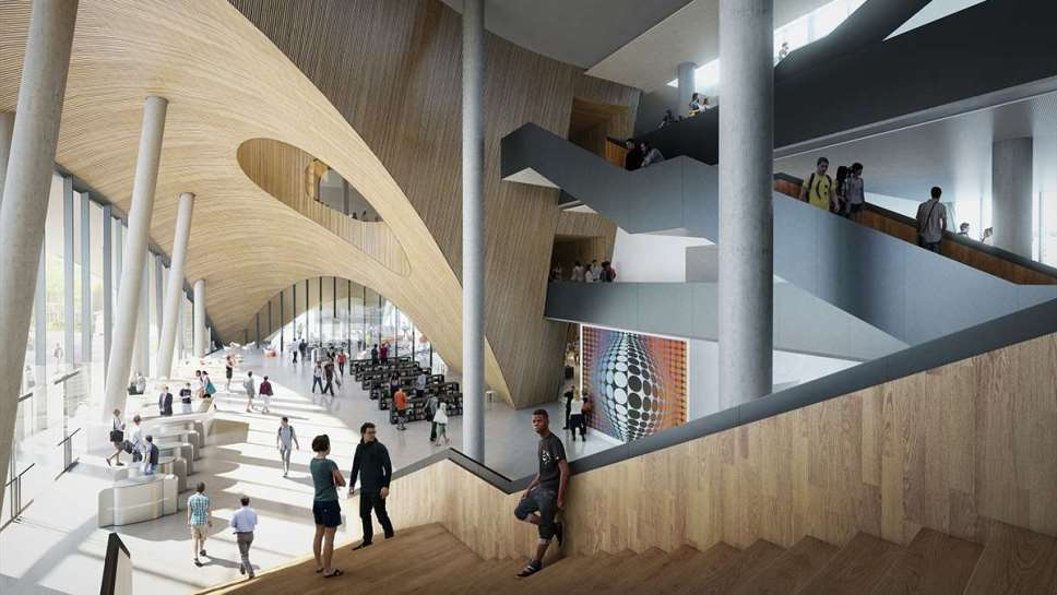 Rendering of new library