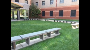 1300 Residence Hall landscaping